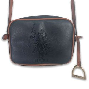 U.S. Polo Assn. Leather Navy Cross Body Charm Bag